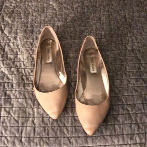 649c04c8e21 Steve Madden Shoes | Lecrew Nude Pointed Toe Flats | Poshmark